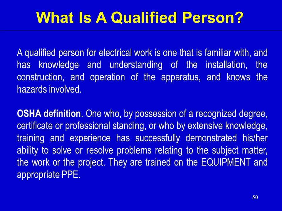 What Is A Qualified Person