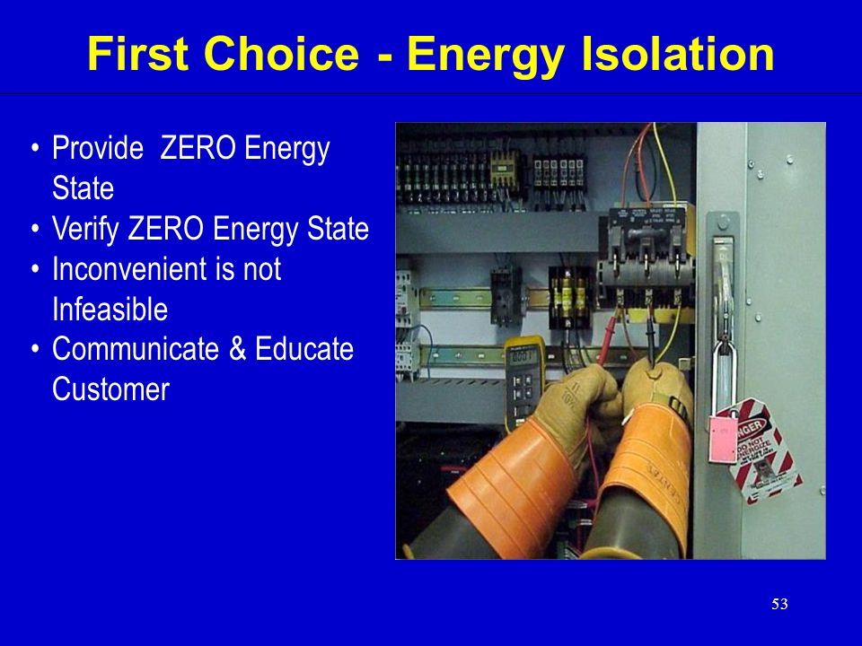 First Choice - Energy Isolation