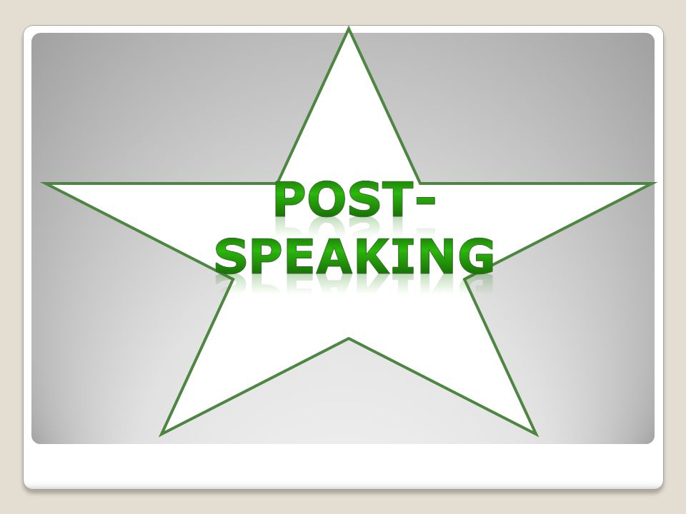 Post-speaking