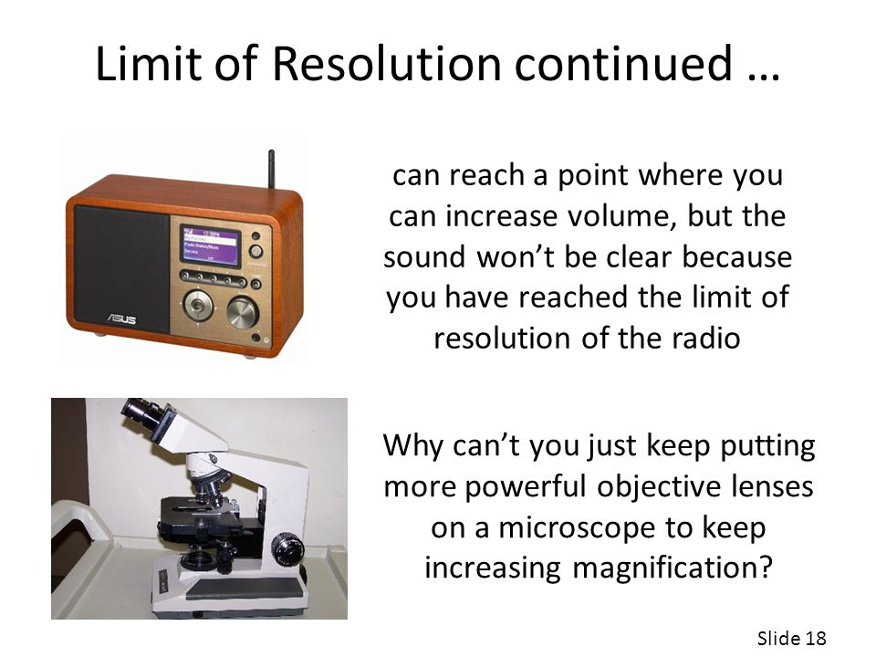 Limit of Resolution continued …