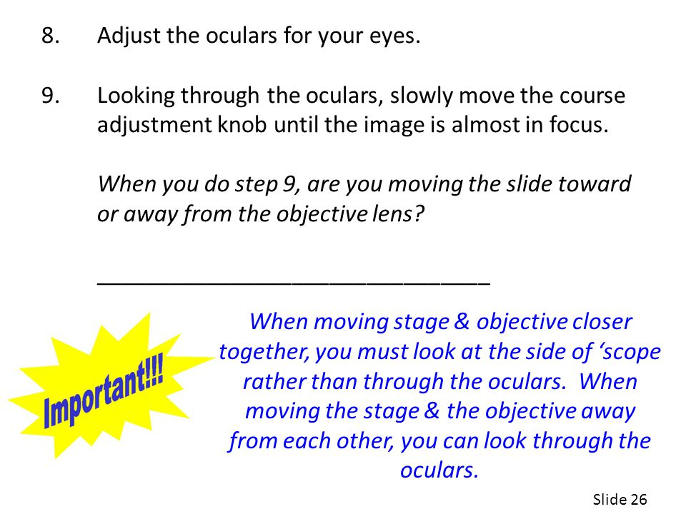Adjust the oculars for your eyes.