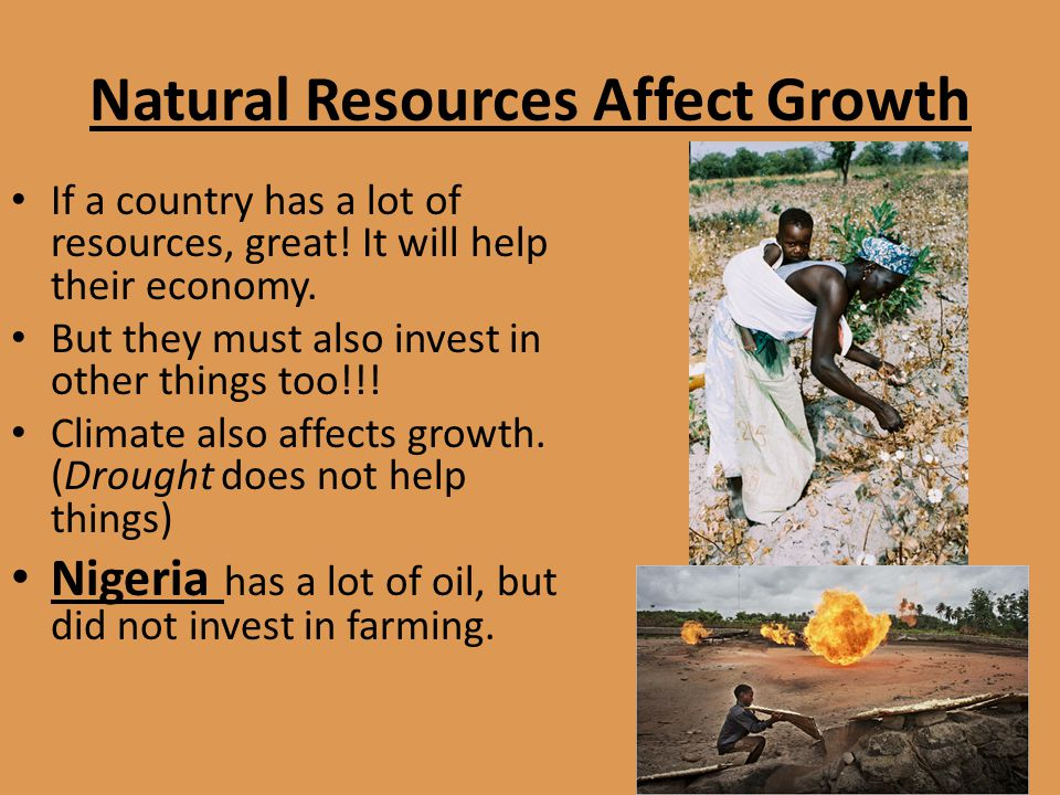 Natural Resources Affect Growth