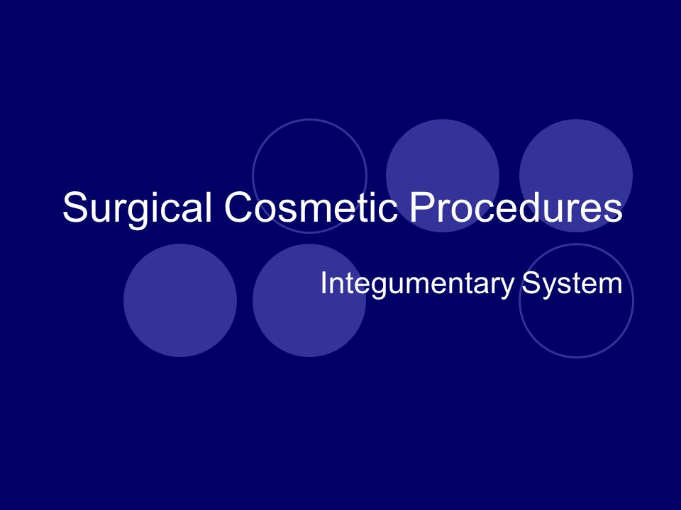 Surgical Cosmetic Procedures