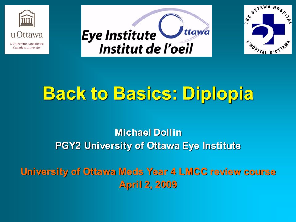 Back to Basics: Diplopia