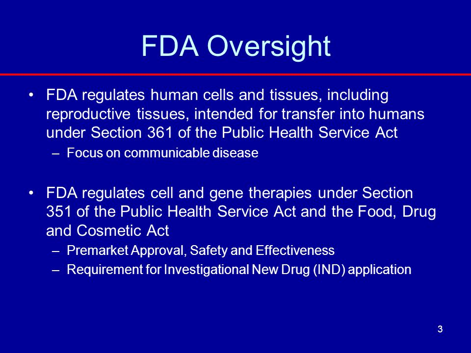 FDA Oversight