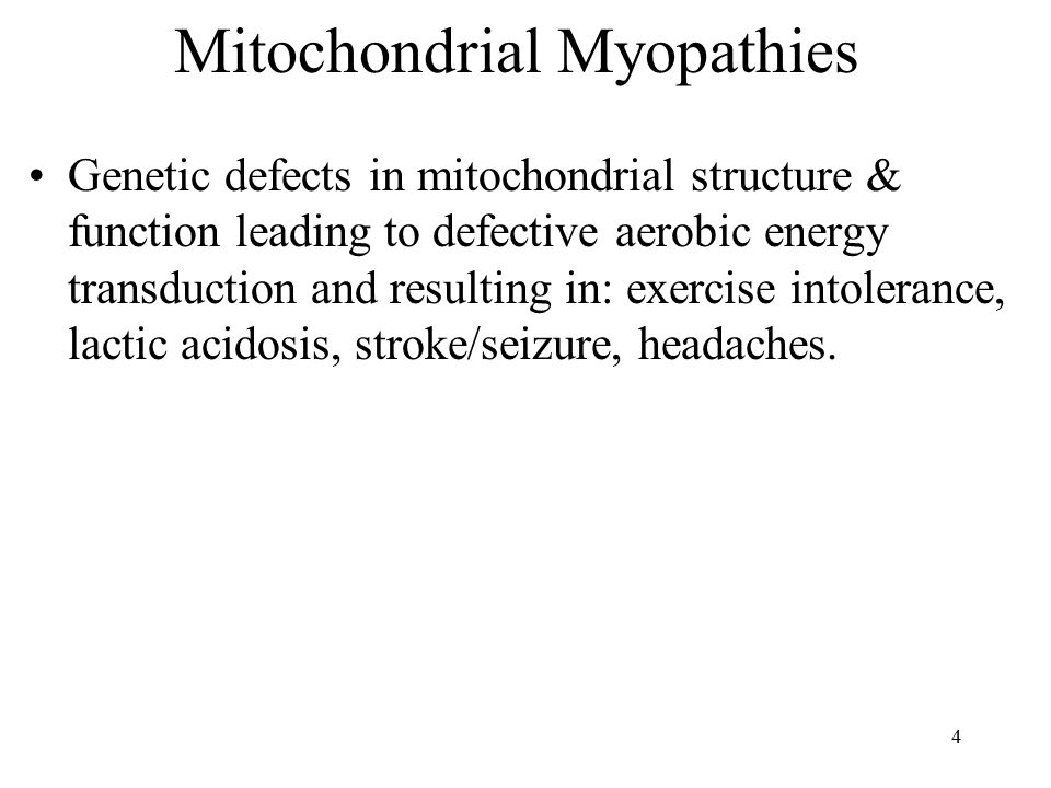 Mitochondrial Myopathies