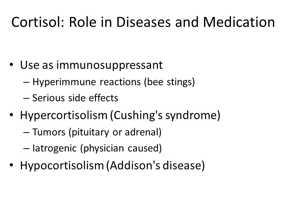 Cortisol: Role in Diseases and Medication