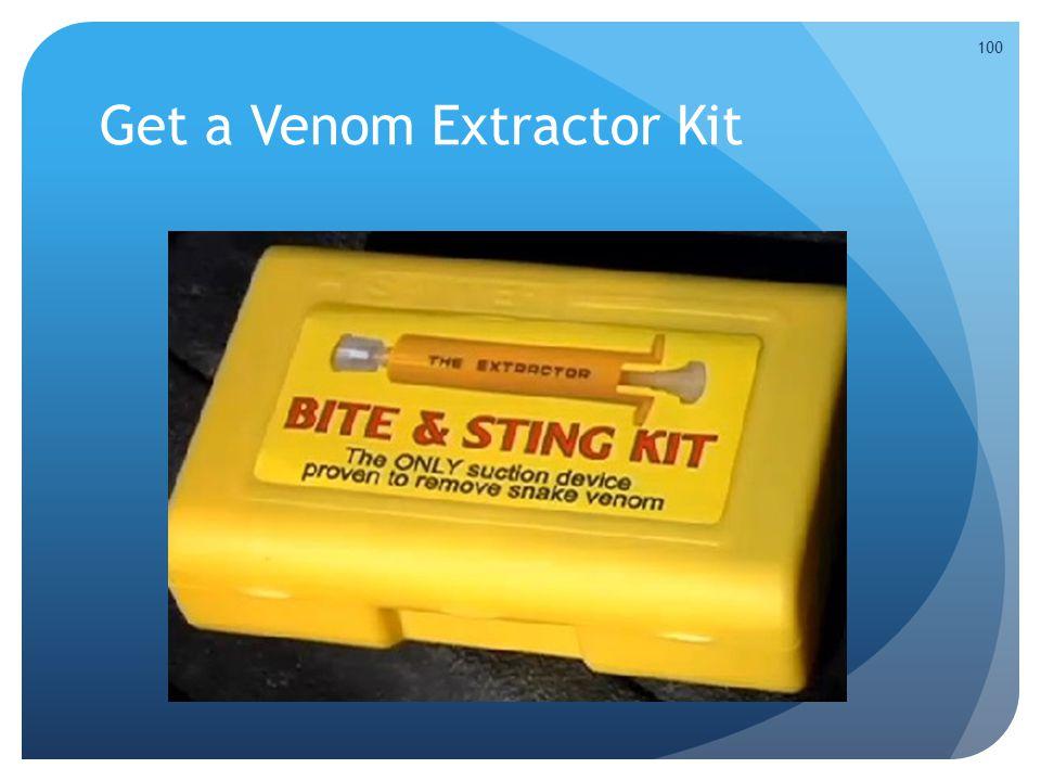 Get a Venom Extractor Kit