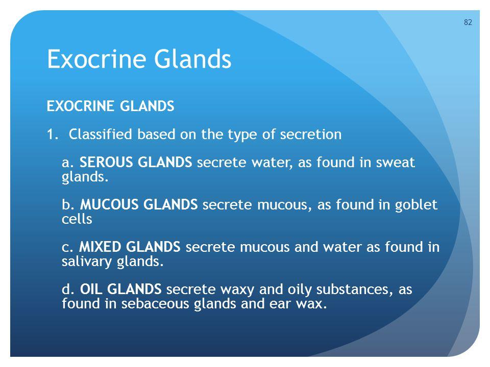 Exocrine Glands EXOCRINE GLANDS