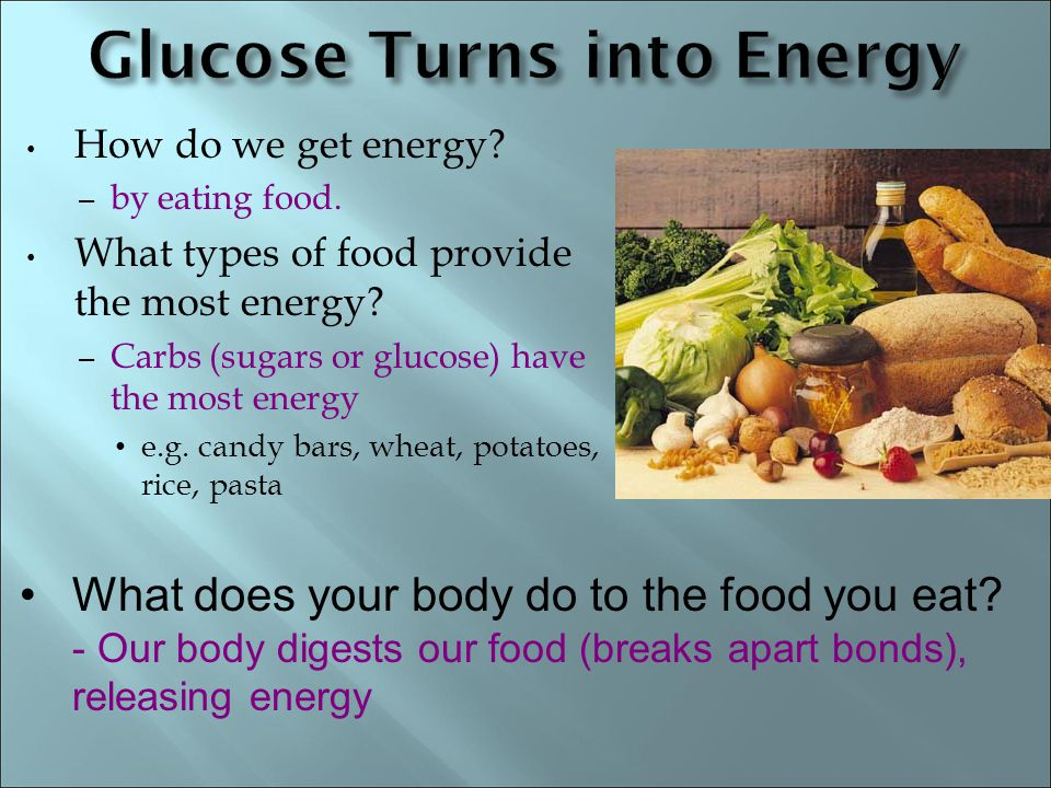 Glucose Turns into Energy