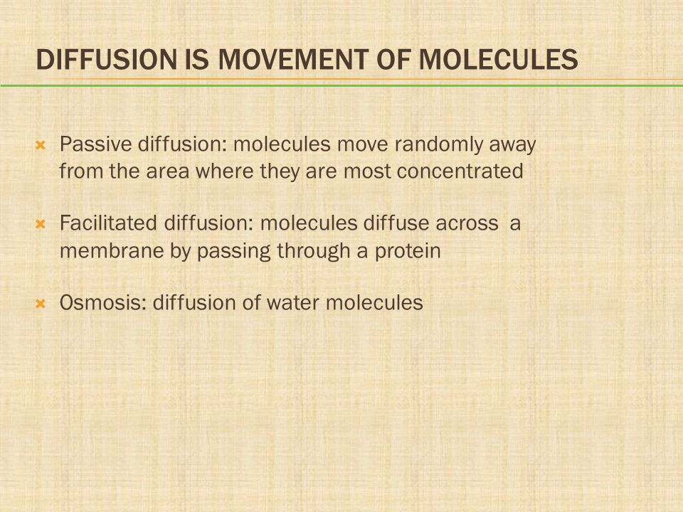 Diffusion Is Movement of Molecules