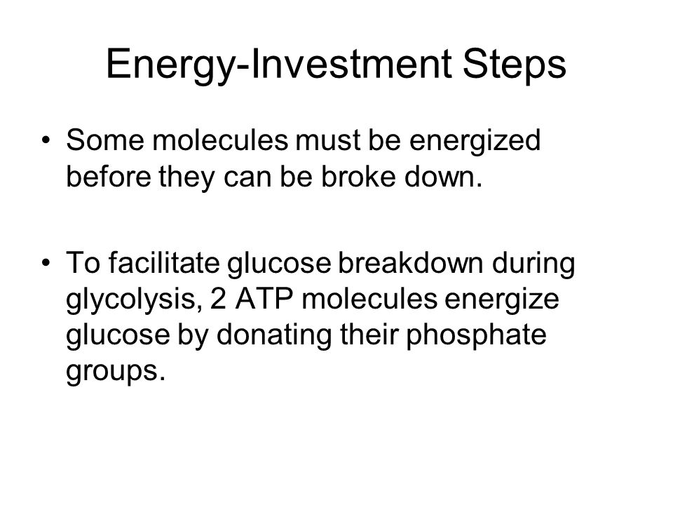 Energy-Investment Steps