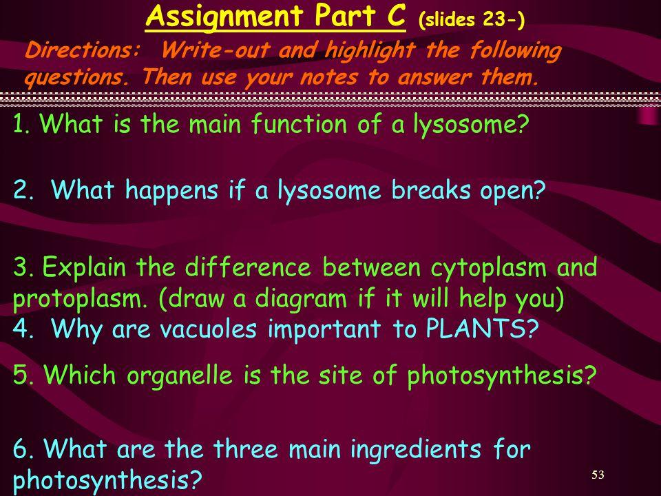 Assignment Part C (slides 23-)