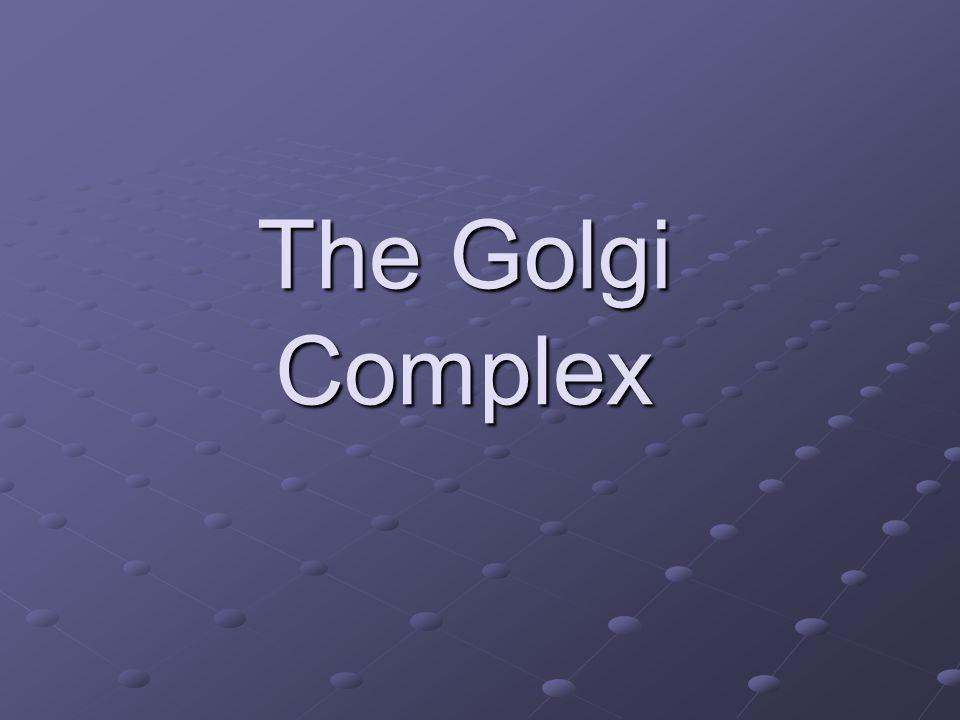 The Golgi Complex
