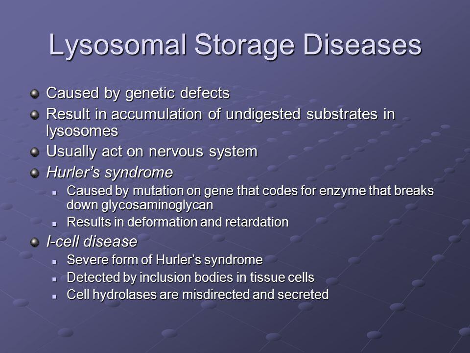 Lysosomal Storage Diseases