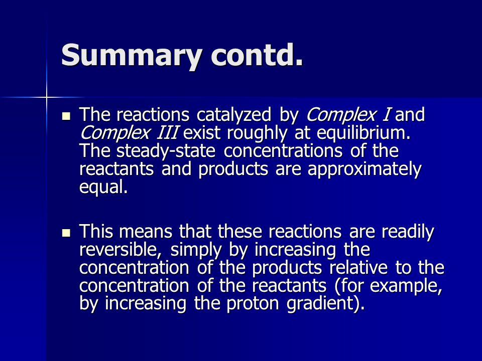 Summary contd.