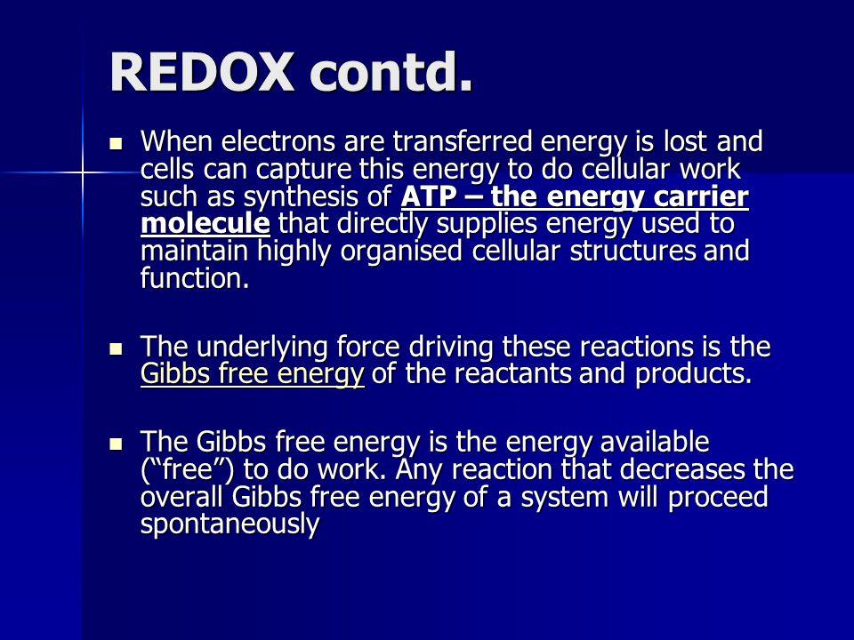 REDOX contd.