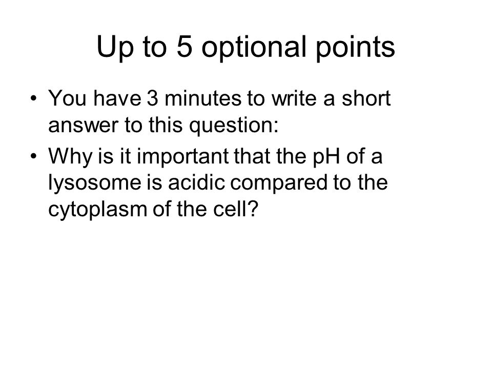 Up to 5 optional points You have 3 minutes to write a short answer to this question: