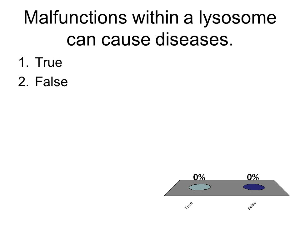 Malfunctions within a lysosome can cause diseases.