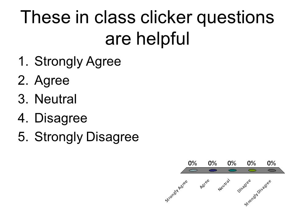 These in class clicker questions are helpful