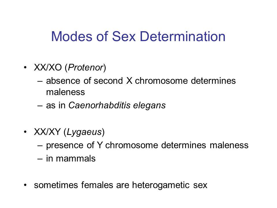 Modes of Sex Determination