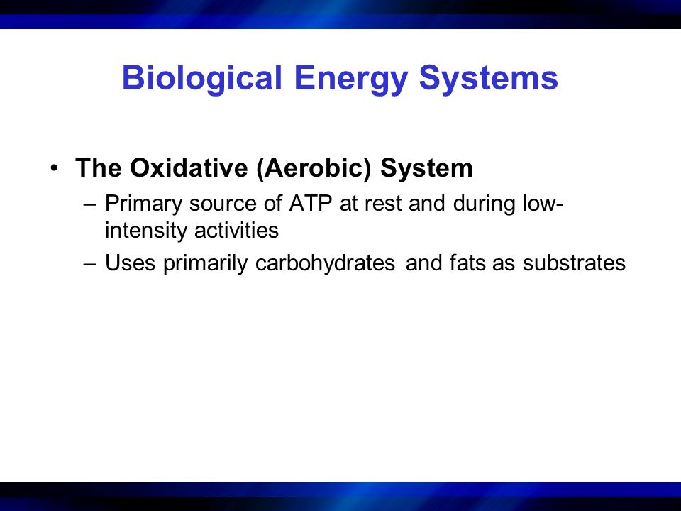 Biological Energy Systems