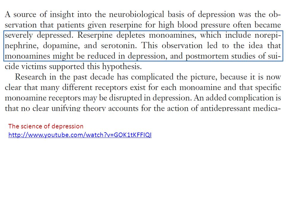The science of depression