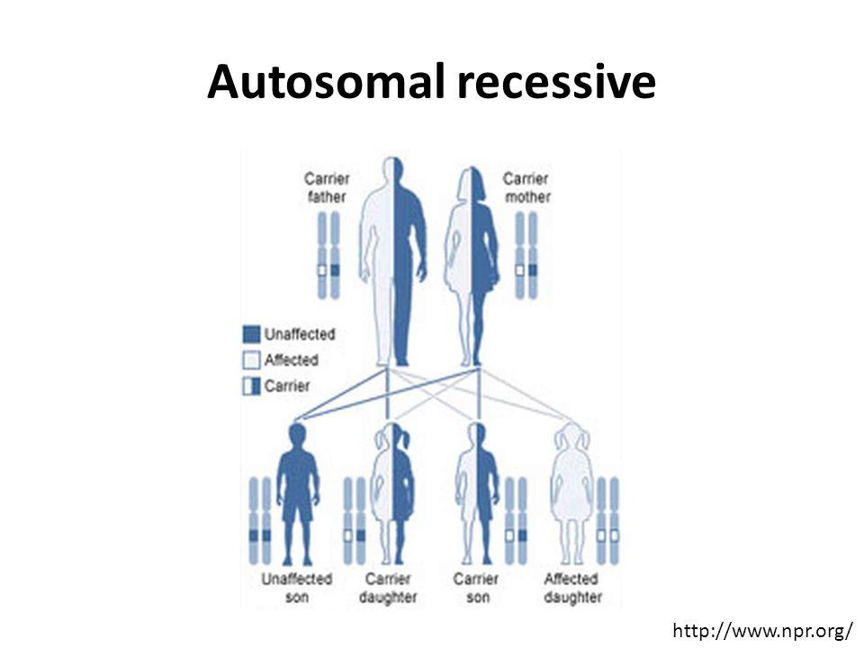 Autosomal recessive http://www.npr.org/