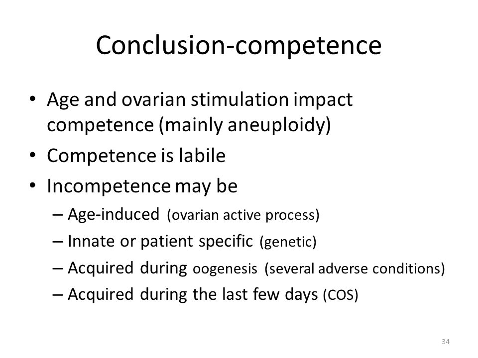 Conclusion-competence