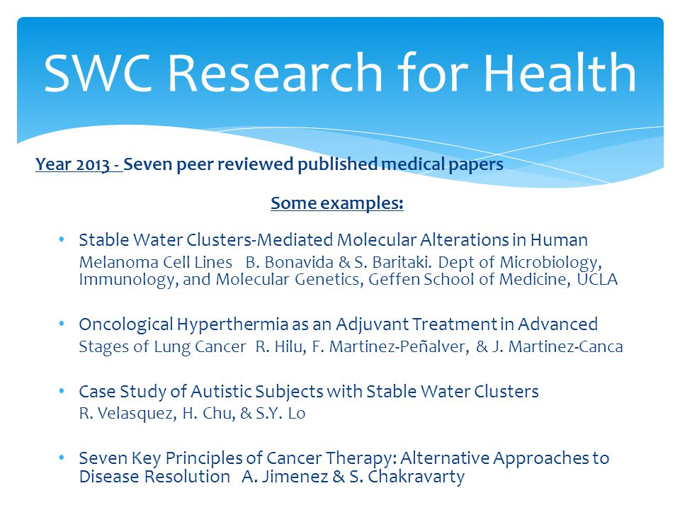 SWC Research for Health