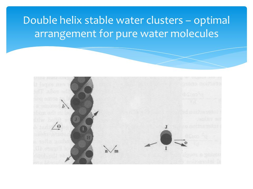 Double helix stable water clusters – optimal arrangement for pure water molecules