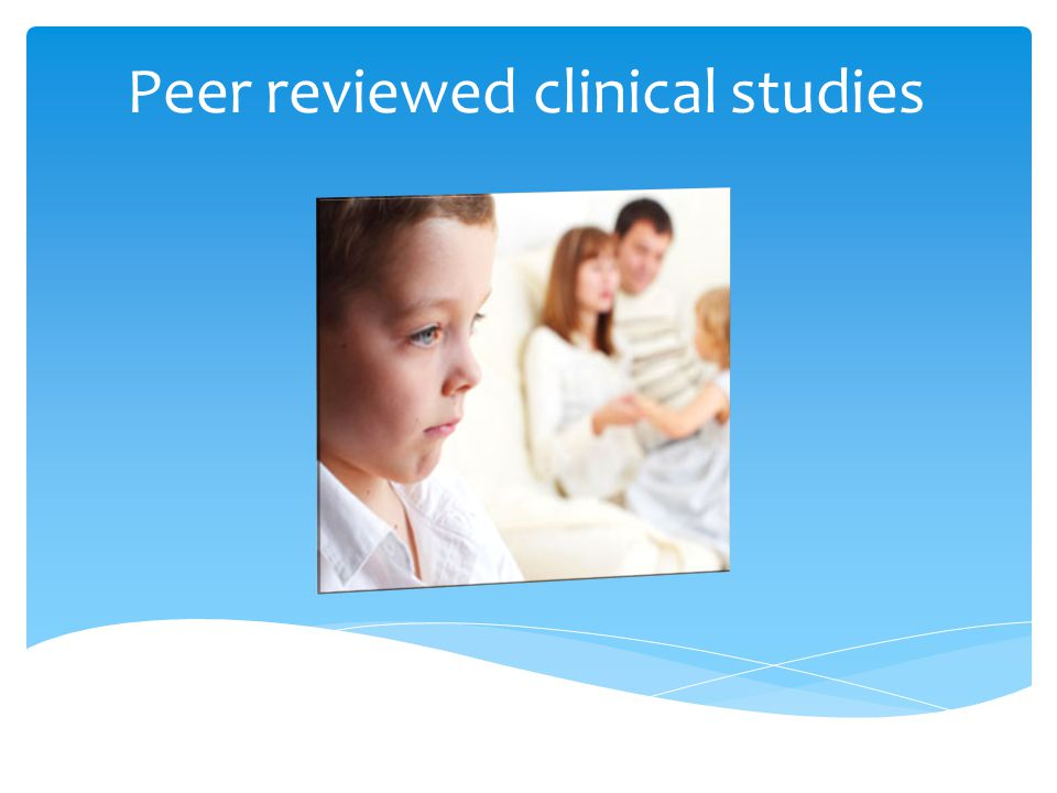 Peer reviewed clinical studies
