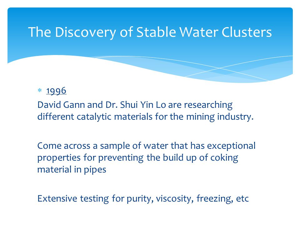 The Discovery of Stable Water Clusters