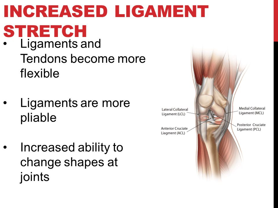 Increased Ligament Stretch