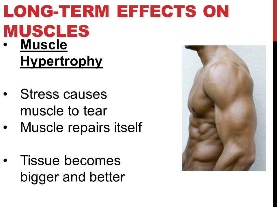 Long-Term effects on Muscles