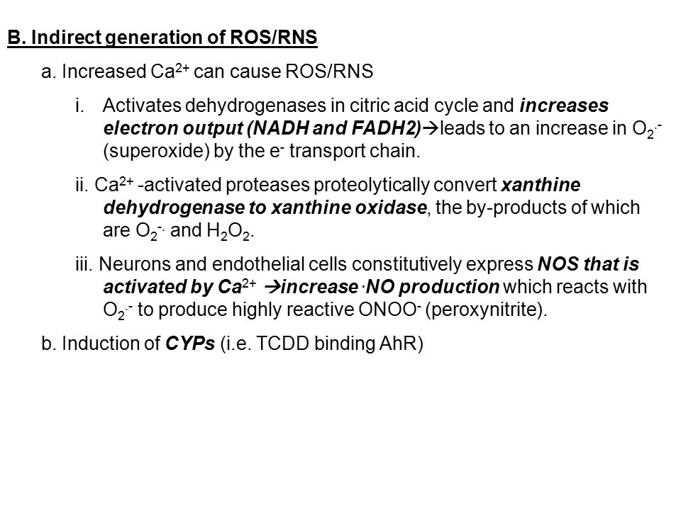 B. Indirect generation of ROS/RNS