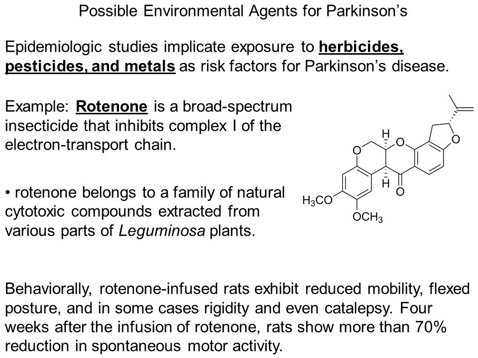 Possible Environmental Agents for Parkinson's