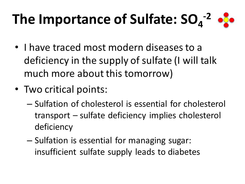 The Importance of Sulfate: SO4-2