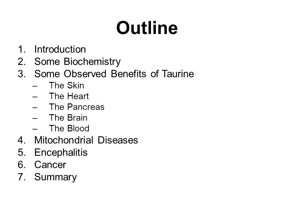 Outline Introduction Some Biochemistry
