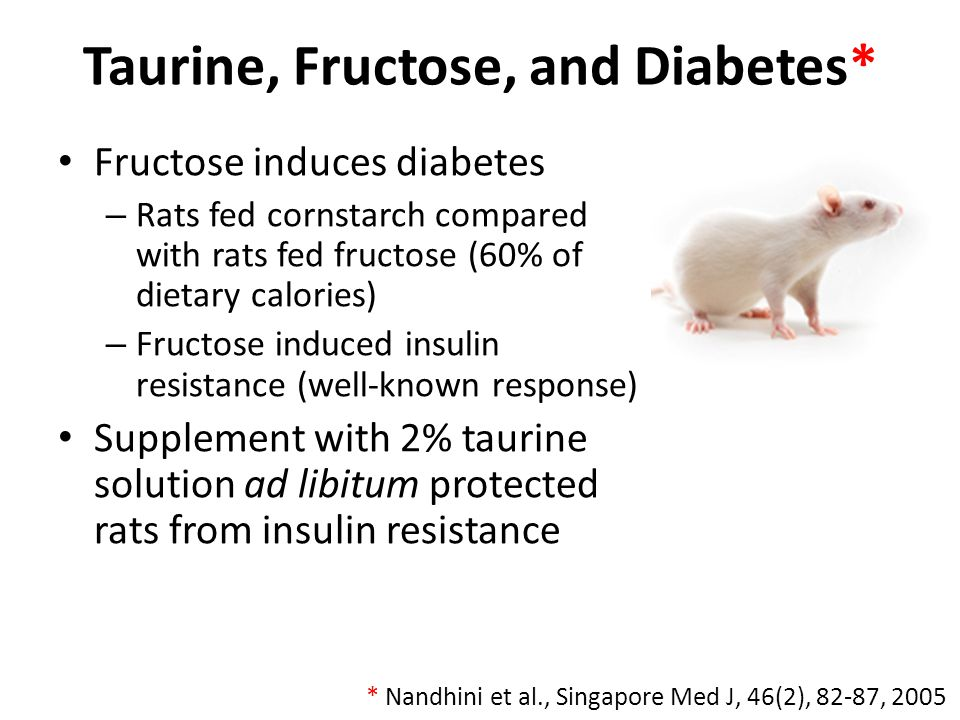 Taurine, Fructose, and Diabetes*