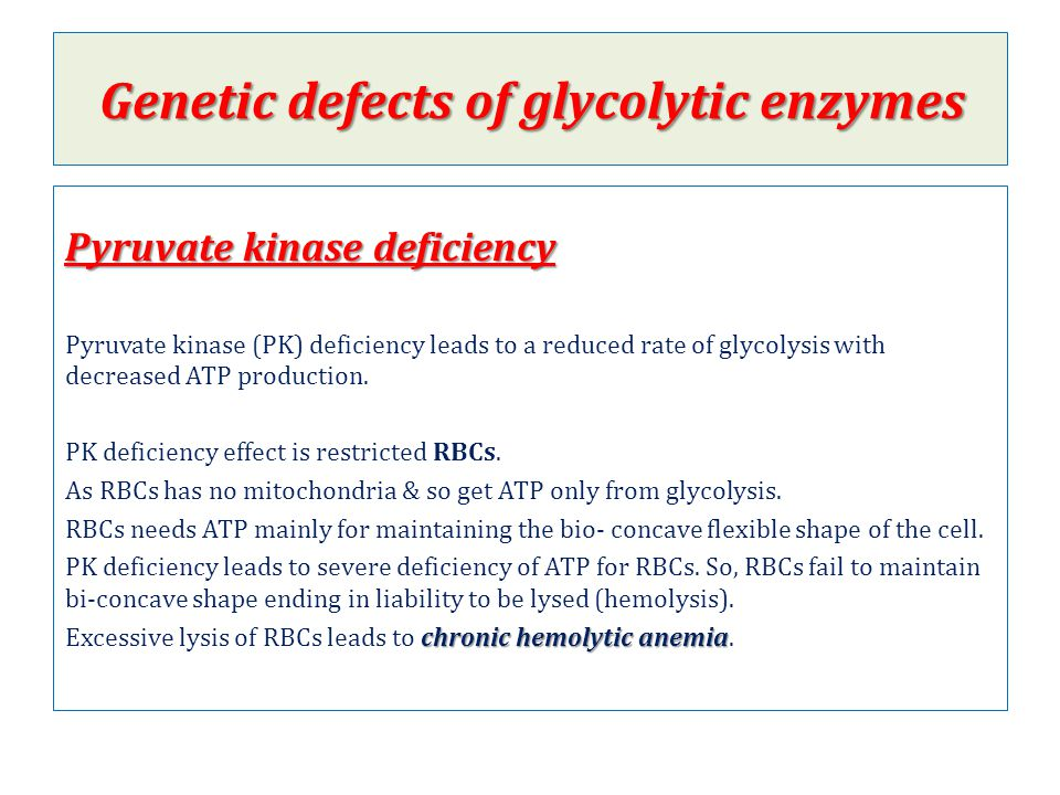 Genetic defects of glycolytic enzymes