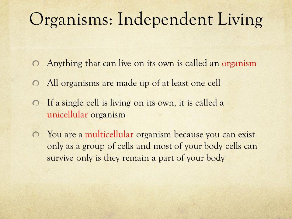 Organisms: Independent Living