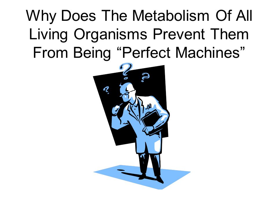 Why Does The Metabolism Of All Living Organisms Prevent Them From Being Perfect Machines
