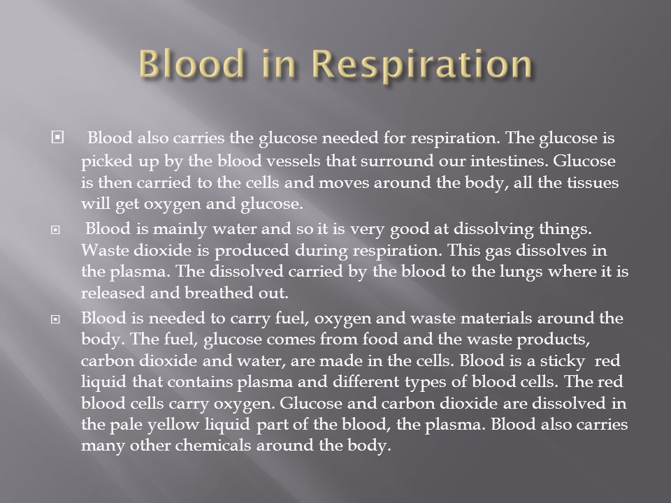 Blood in Respiration