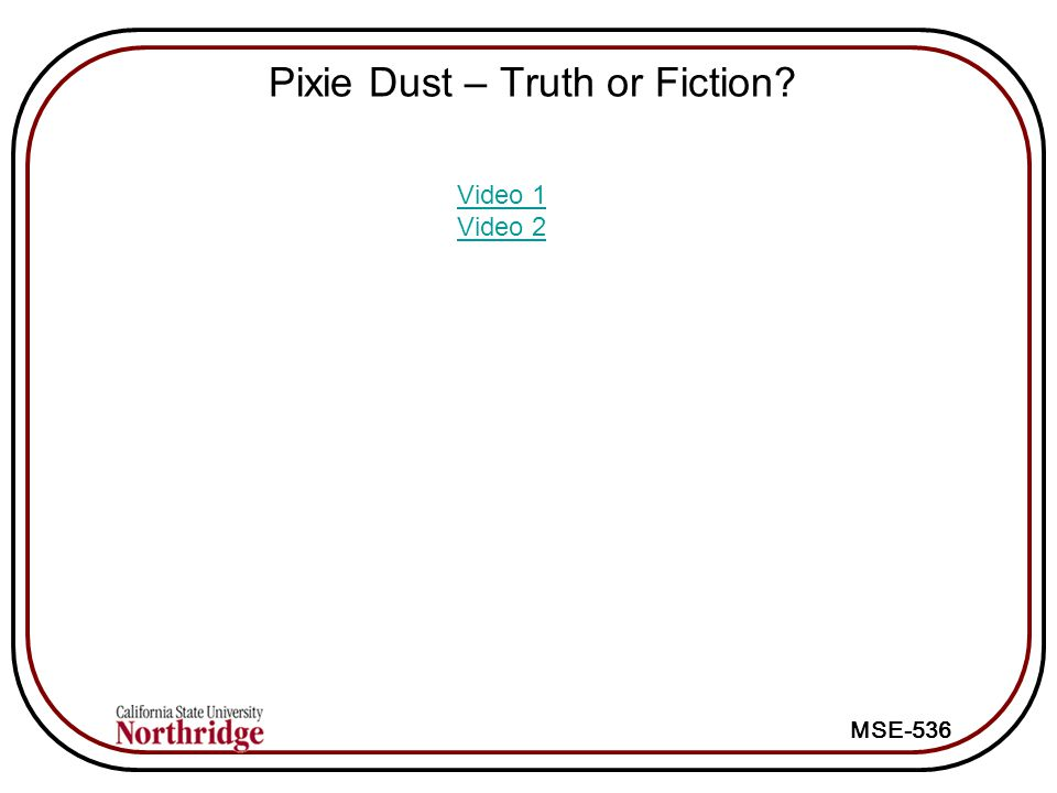 Pixie Dust – Truth or Fiction