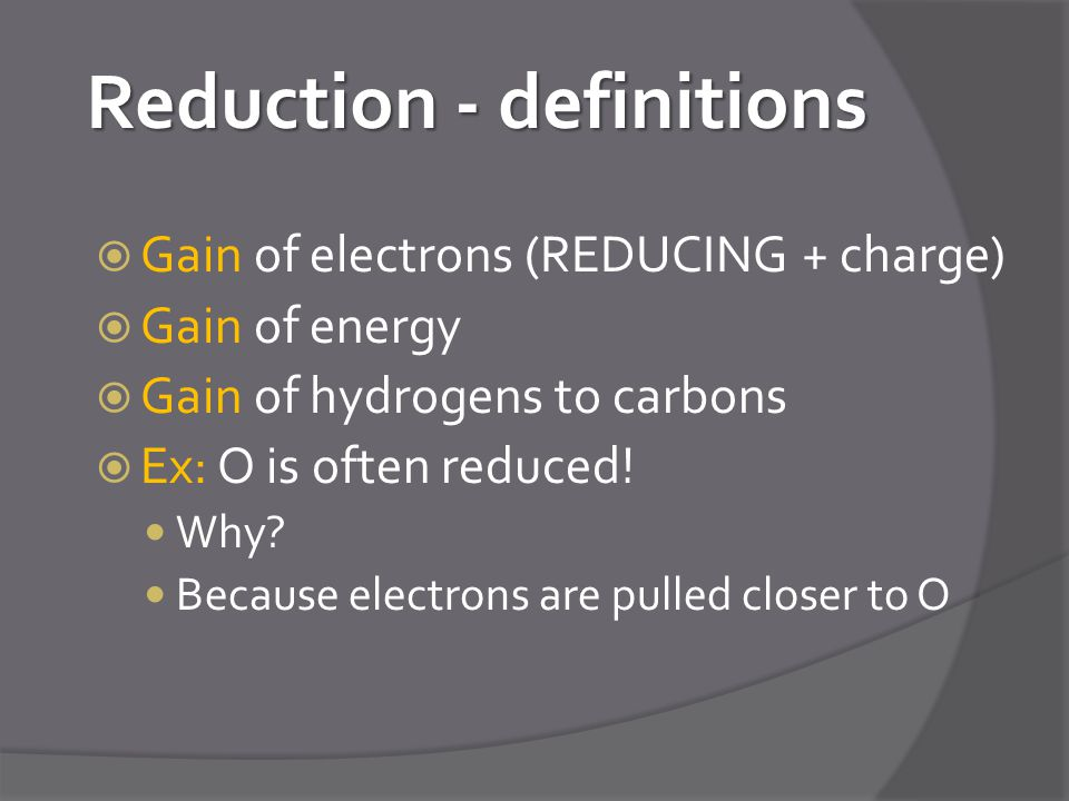 Reduction - definitions