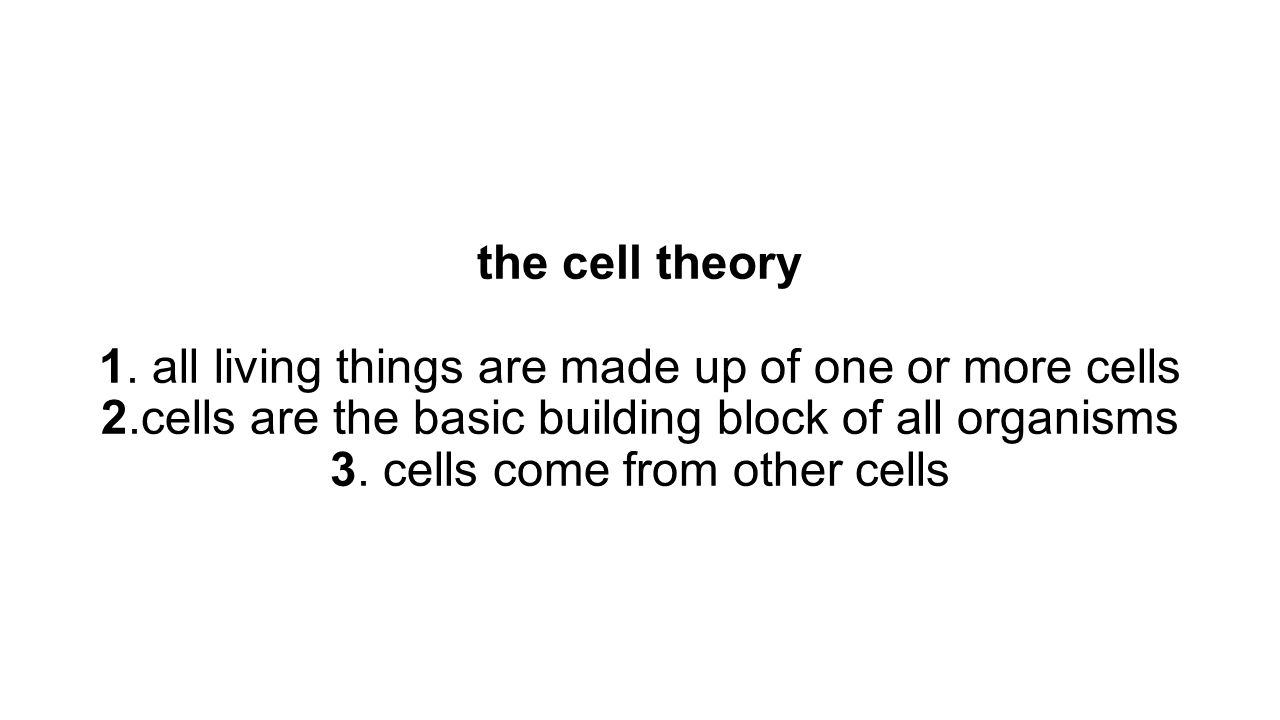 the cell theory 1.