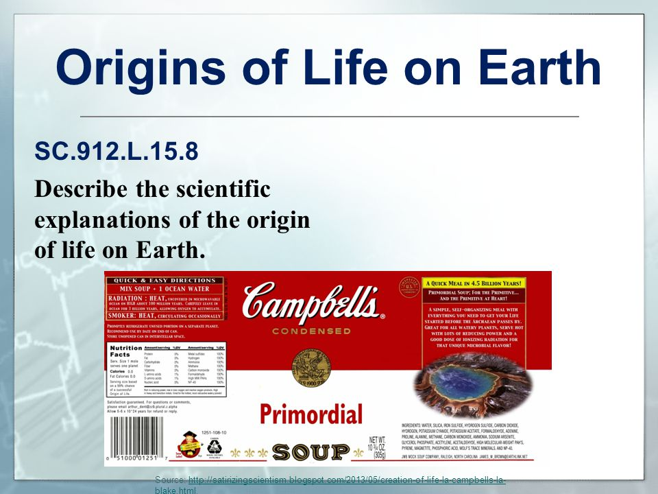 Origins of Life on Earth