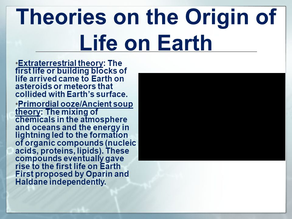 Theories on the Origin of Life on Earth
