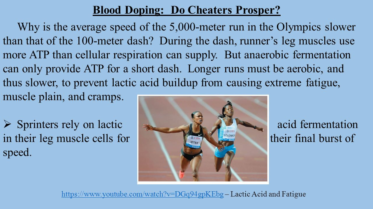 Blood Doping: Do Cheaters Prosper